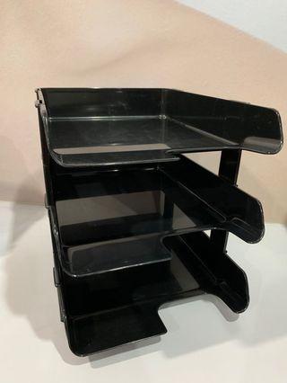 3 tier document tray