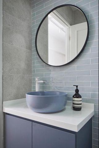 Grey round basin