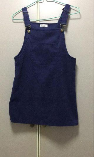 Suede purple overall/ jumper/ pinafore