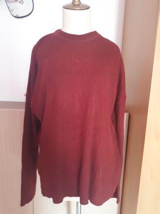 Sweater oversize maroon