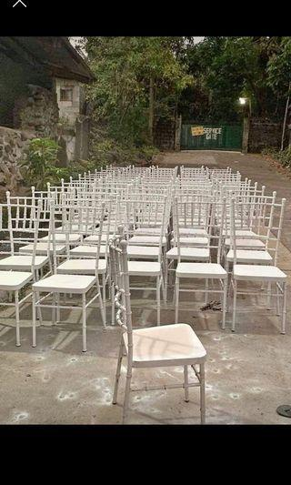 Tiffany chairs and table available