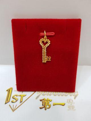 🚚 916 YELLOW GOLD KEY PENDADT