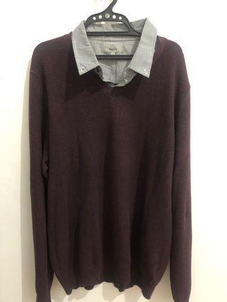 Sweater Kerah Maroon