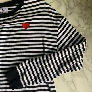 🚚 H&M Striped Long Sleeve Top