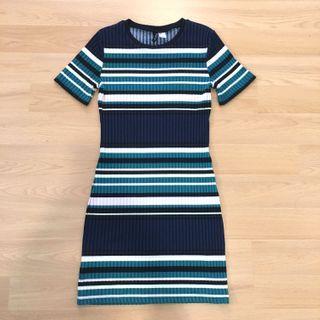 [H&M] Striped BodyCon Dress