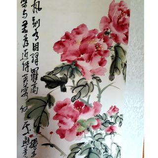 Chinese Painting Peony Flower (Scroll)