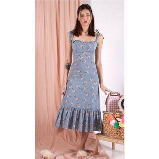 INSTOCK Tiara Floral Printed Midi Dress