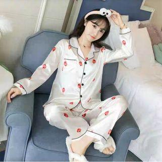 CL-EJJ SW Strawberry Import PP Bahan Saten Import Goodquality Allsize fit L Realpic