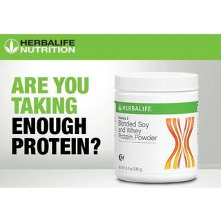 HERBALIFE FORMULA 3(F3) BLENDED SOY & WHEY PROTEIN POWDER 【100% ORIGINAL GENUINE HERBALIFE PRODUCT 】