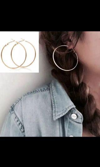 Anting Hoop Menjuntai Drop Earrings