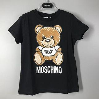 Moschino 黑色男女童小熊短袖t恤 (Weec)