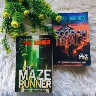 The Maze Runner and The Scorch Trials by James Dashner