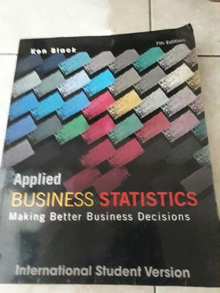 Applied Bussiness Statistics