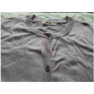 全新Snidel外套 純色針織外套 上衣薄款外套 (粉紫色)