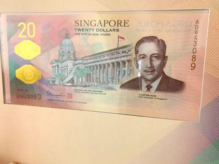 (3089 reserved) $20 SGD Bicentennial Notes