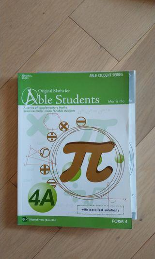 Maths for Able Students 4A (with answers)