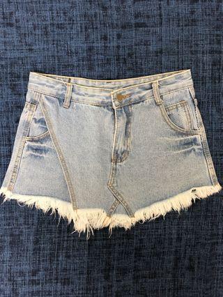 Denim Shorts Skirt