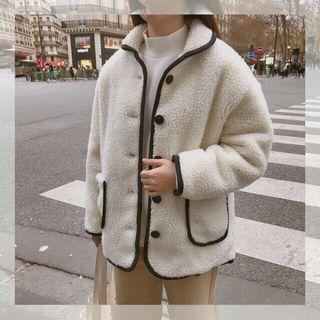 🚚 GoGosing 配色羊毛外套