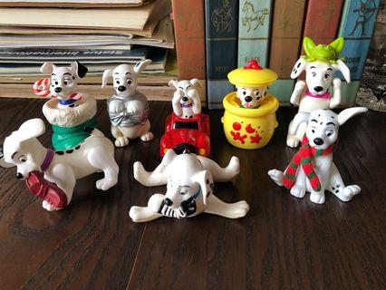 101 dalmatians dogs Disney x assorted 8 pcs 1990s old toys