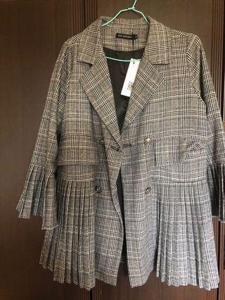 秋冬出清-灰色個性西裝外套
