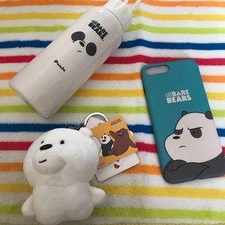 🚚 We Bare Bears bottle / keychain / iPhone 7/8 Plus Case