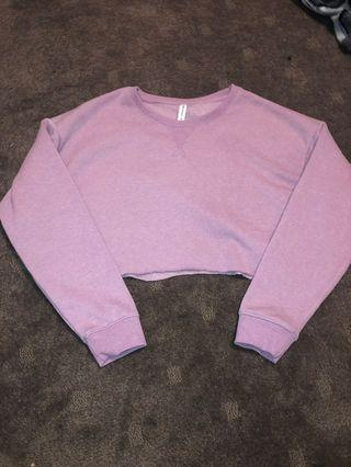 MAUVE CROPPED SWEATER SIZE S