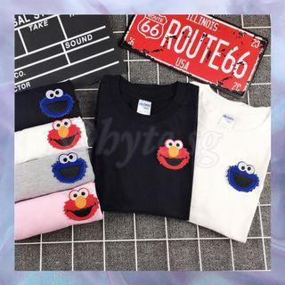 Sesame Street Elmo Cookie Monster TShirt Tee