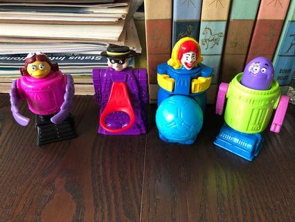 1997 McDonald toys collectibles x4 set