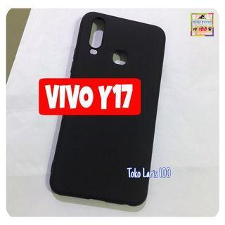 Softcase Black Matte Vivo Y17- Softshell Slim Matte Black
