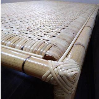 Flat surface Rattan bed. Hand-made. Full support for your back yet flexible - reduce and prevent further back pain.