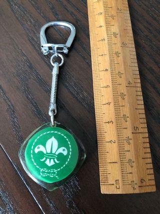 Keychain key chains Vintage Boy Scout Singapore 1971