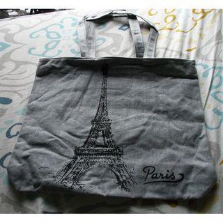 全新巴黎鐡塔 帆布袋 環保袋 購物袋 手提袋 單肩袋 電腦袋 雜物袋 手袋 手挽袋 包包 側背袋 tote bag