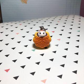 🚚 Cute Hamster Keychain (Mooncake)