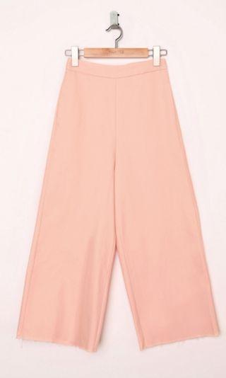 Fashmob Frazer denim culottes in peach pink