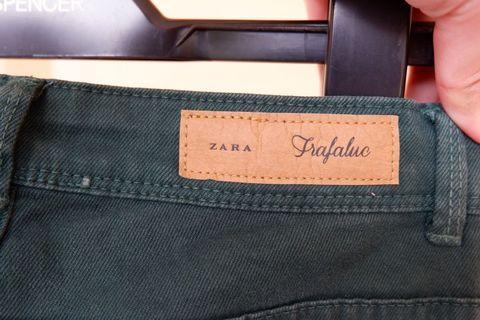 zara trafaluc jeans green