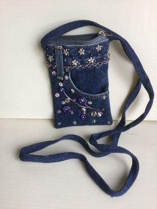 Blue Denim Bag for Mobile