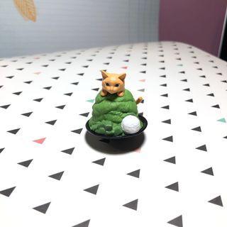 🚚 Cute Cat Keychain (Cat in Matcha Dessert)