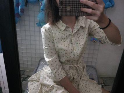 小碎花裙(米色