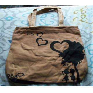 全新愛 帆布袋 環保袋 購物袋 手提袋 單肩袋 電腦袋 雜物袋 手袋 手挽袋 包包 側背袋 tote bag 2