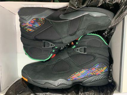 全新原裝行貨 Air Jordan 8 Retro black 11號 Nike,香港Nike網站訂購,附有Nike 單及email,交收時要剪走地址,歡迎少少議價