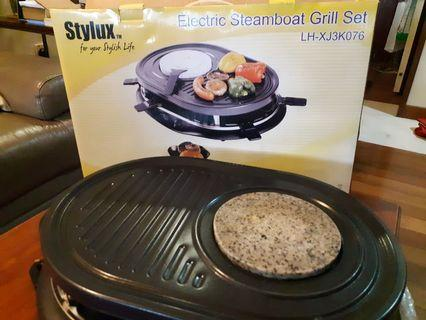 Electric Steamboat Grill Set