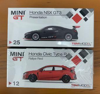 全新未開 Mini GT 1/64 Honda NSX Civic Type R FD2 (Not Tarmac Tomica Ignition Model)