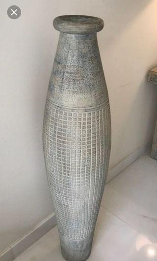 tall asthetic terra cotta vase