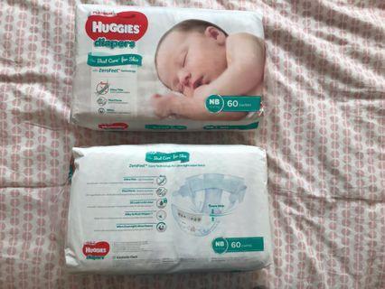 🚚 Newborn Huggies Platinum Diapers