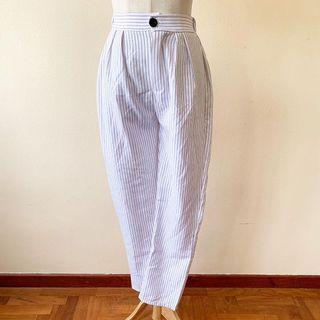 White Stripes Trousers