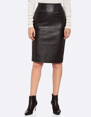 Oxford Charlie Pencil Leather Skirt in Black - Size 8 BNWT RRP $369