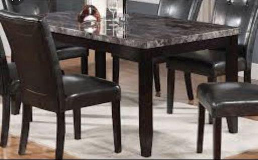 "🚚 Dining Table ""table top"" with 6 chairs"