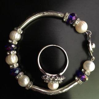 Pearl Bracelet + Ring