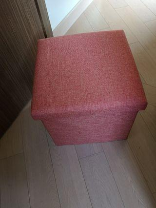 Box to store stuff and sit on