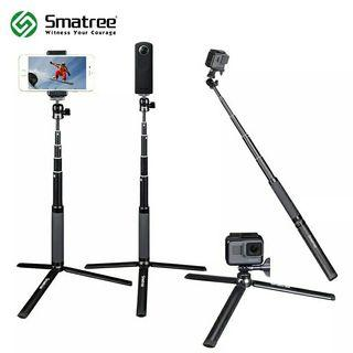 ORIGINAL Smatree Smapole SQ2 Selfie Stick for Gopro/ Ricoh Theta / Point & Shoot/ Instant Camera & SmartPhones